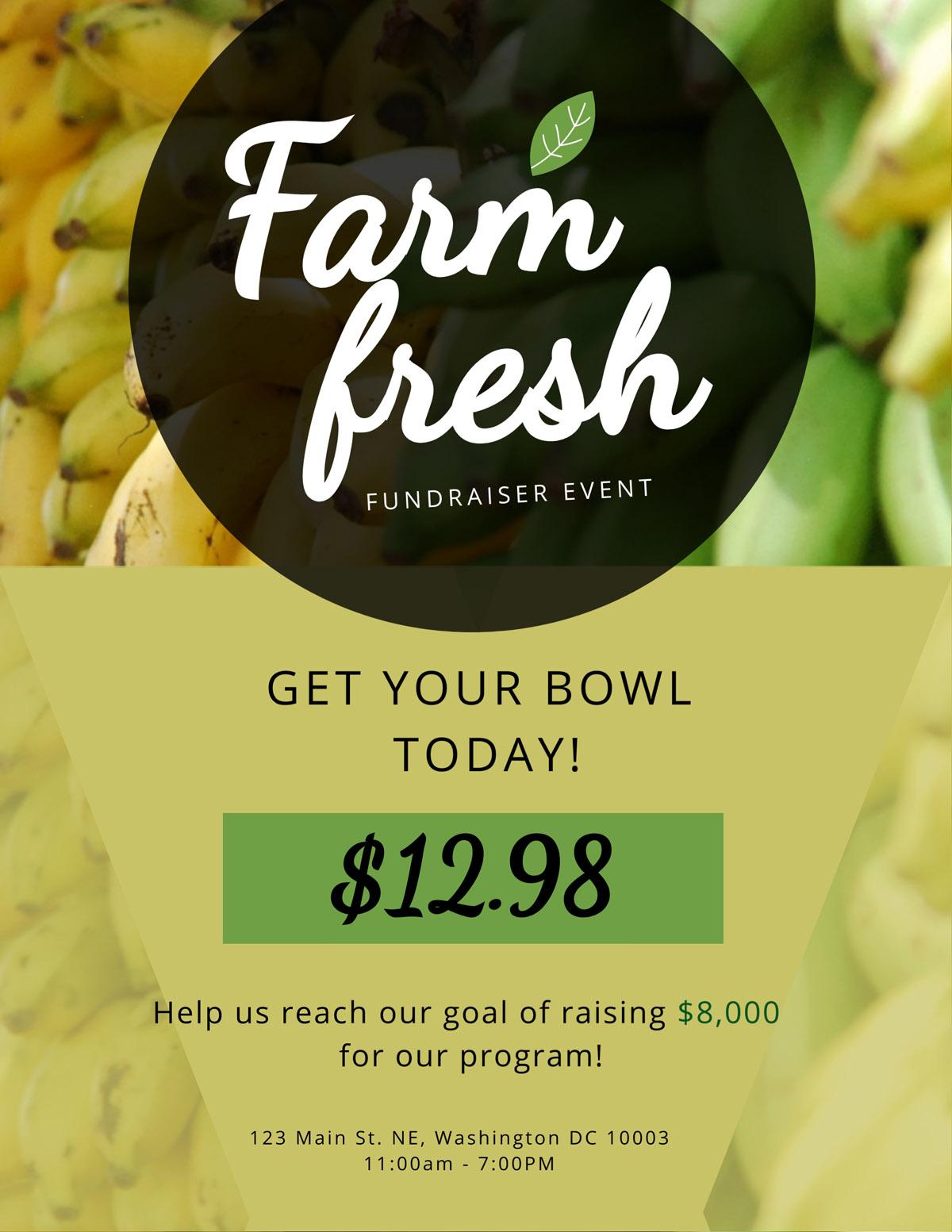 flyer templates - farm fresh fundraiser
