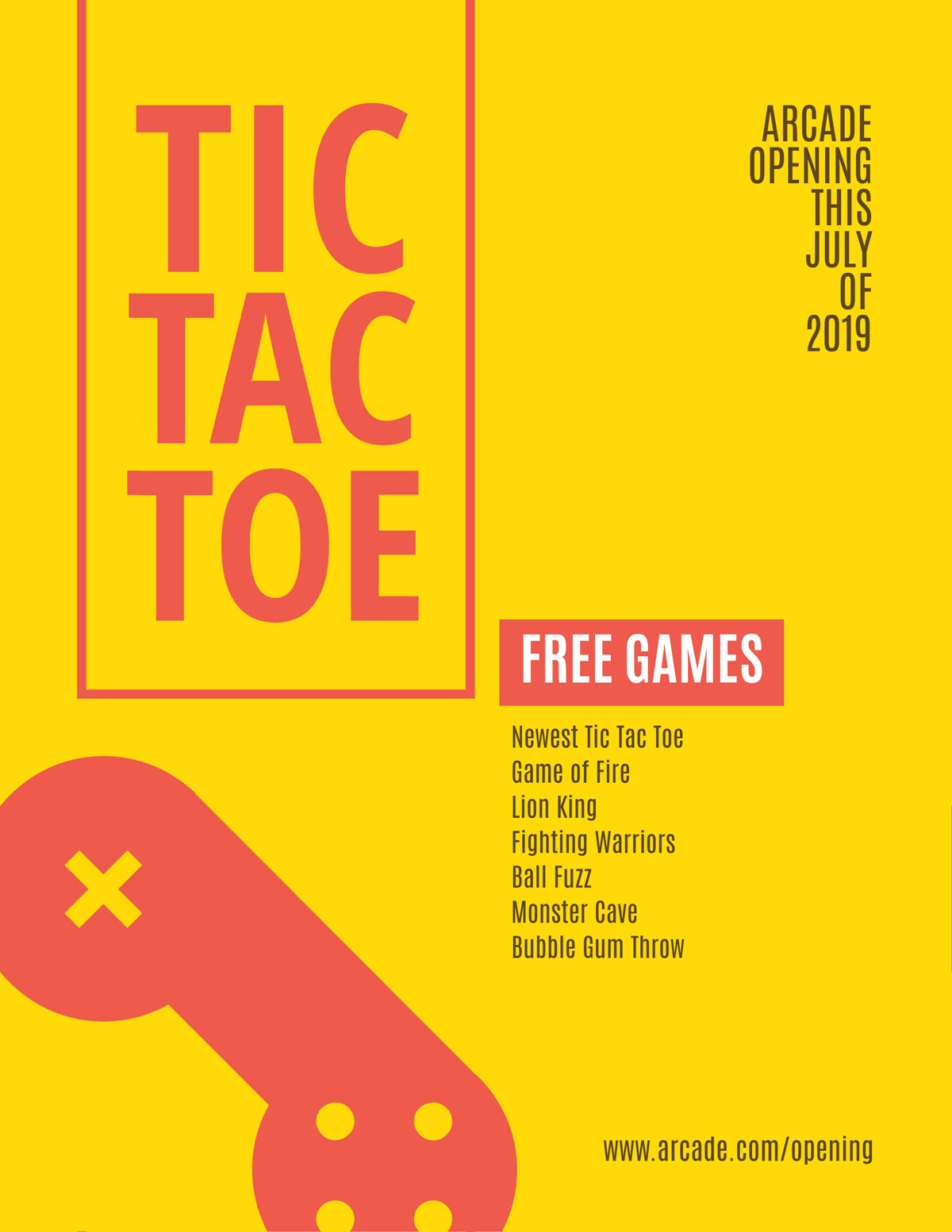 flyer templates - gaming arcade event