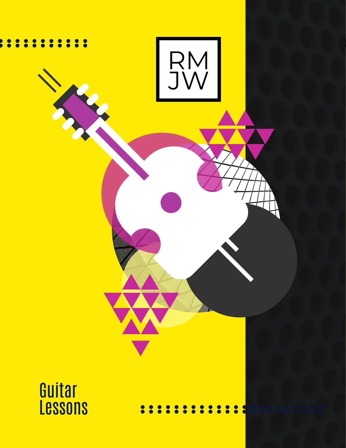 flyer templates - guitar lessons