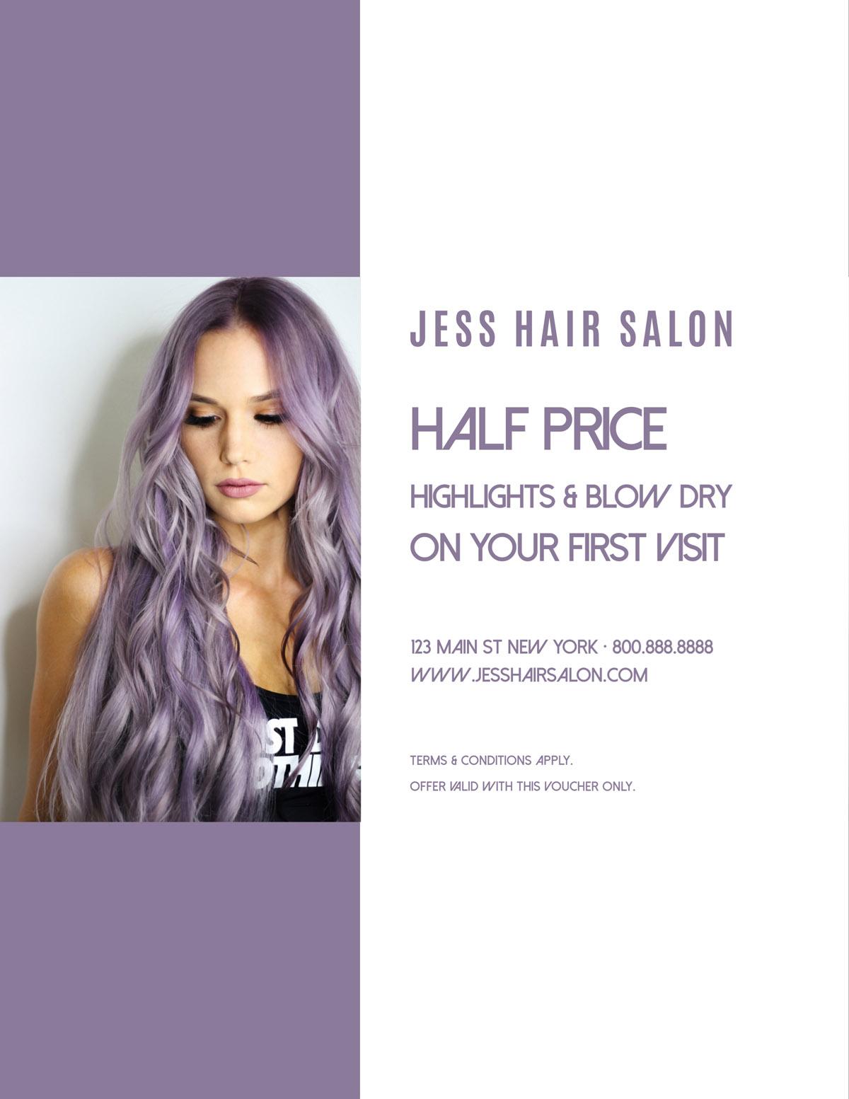flyer templates - hair salon sale