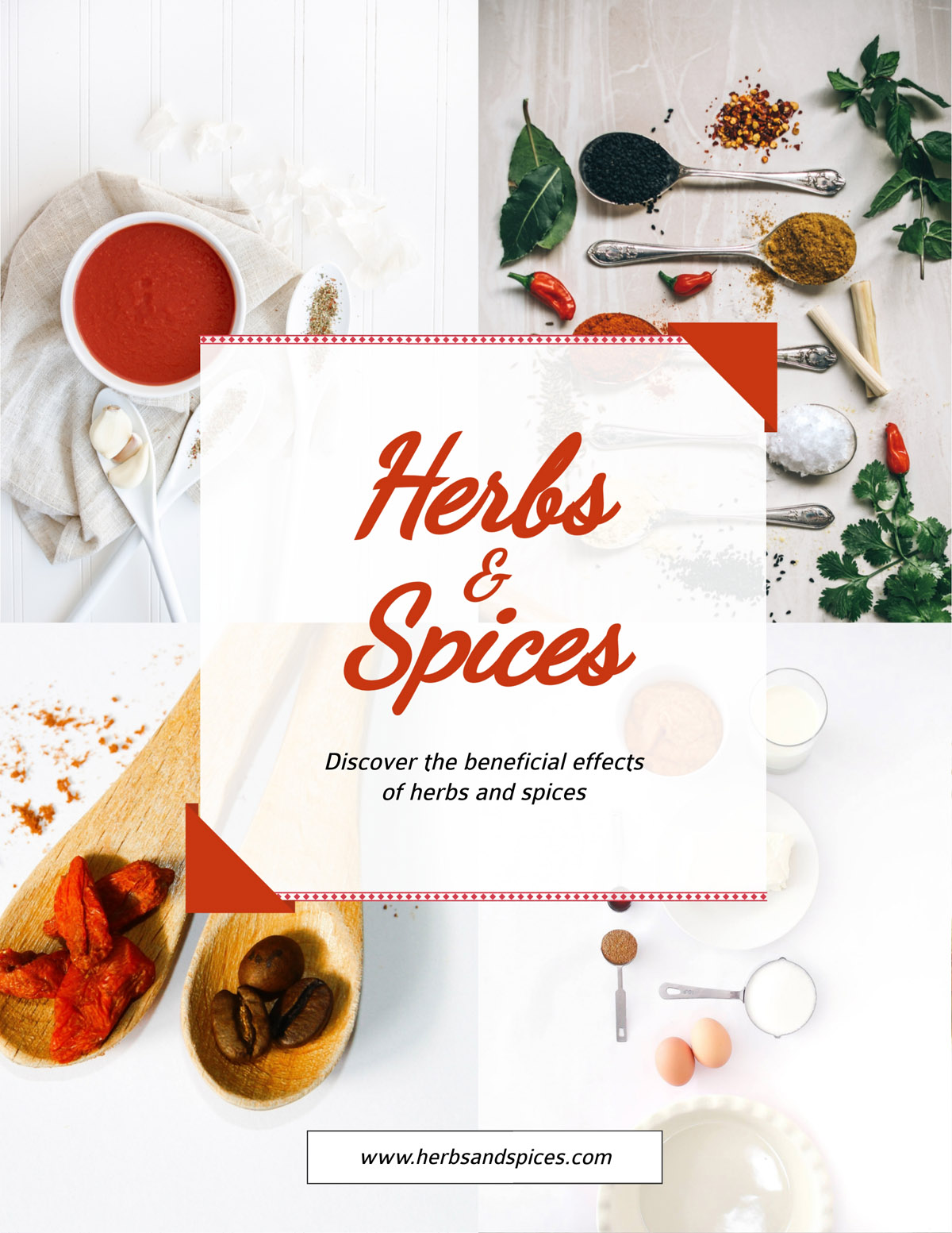 flyer templates - herbs and spices