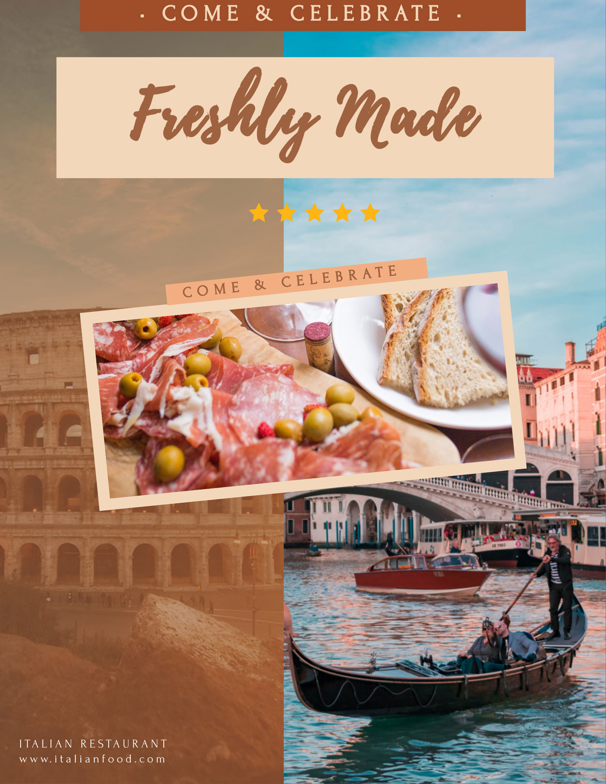 flyer templates - italian restaurant