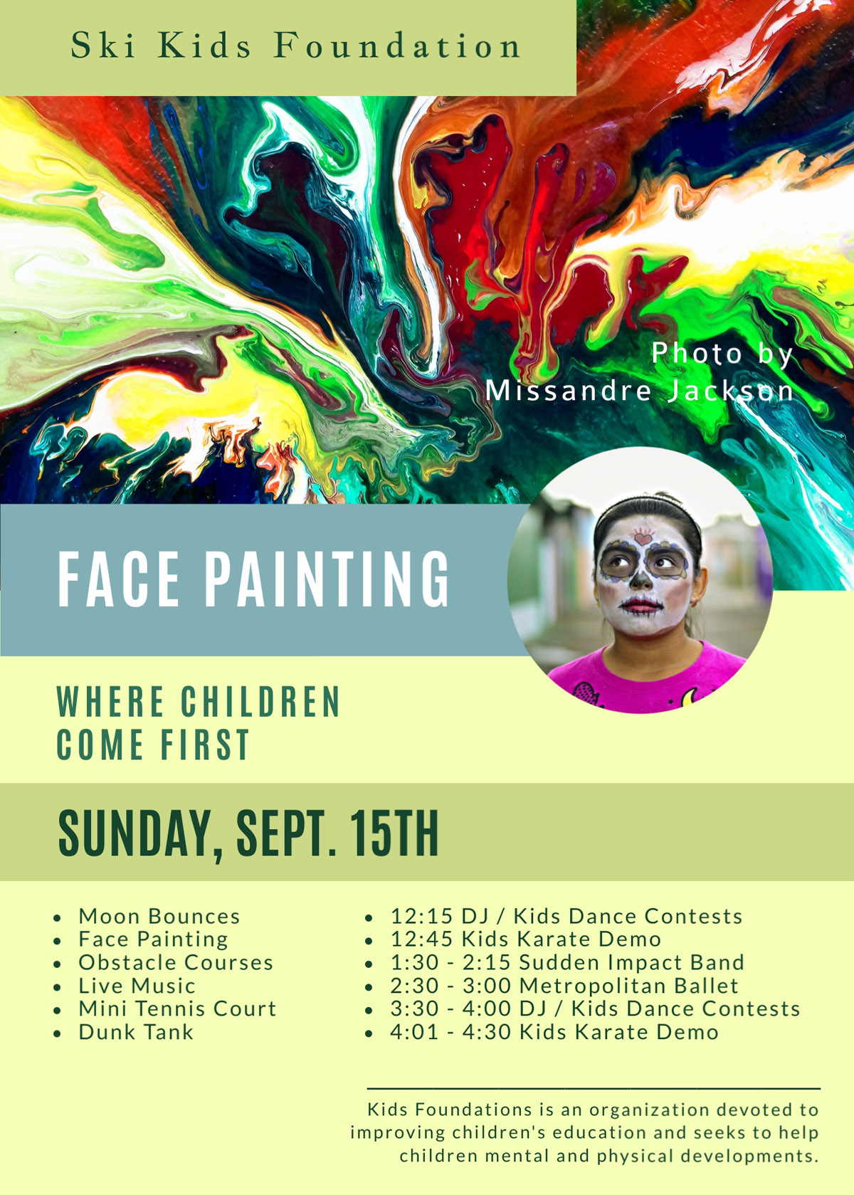 flyer templates - kids face painting event