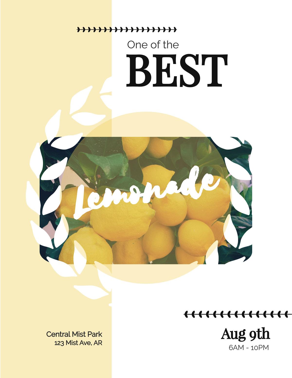 flyer templates - lemonade