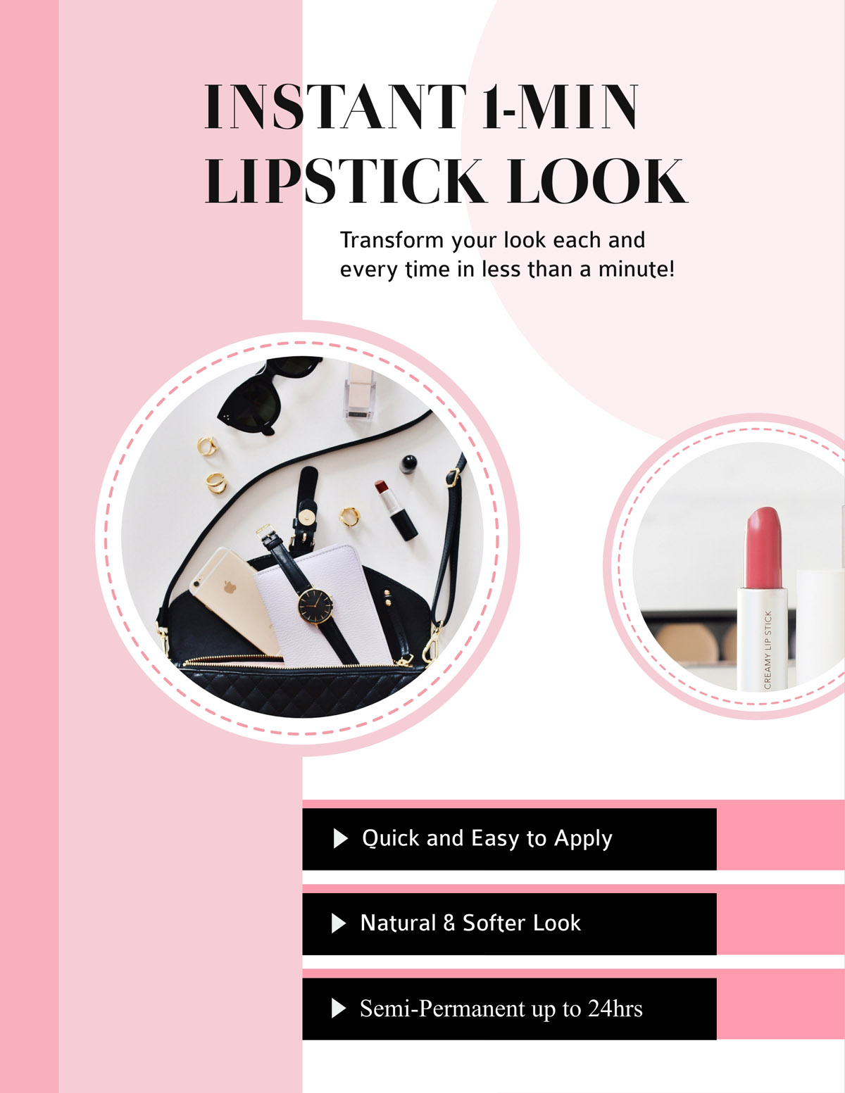 flyer templates - lipstick beauty makeup