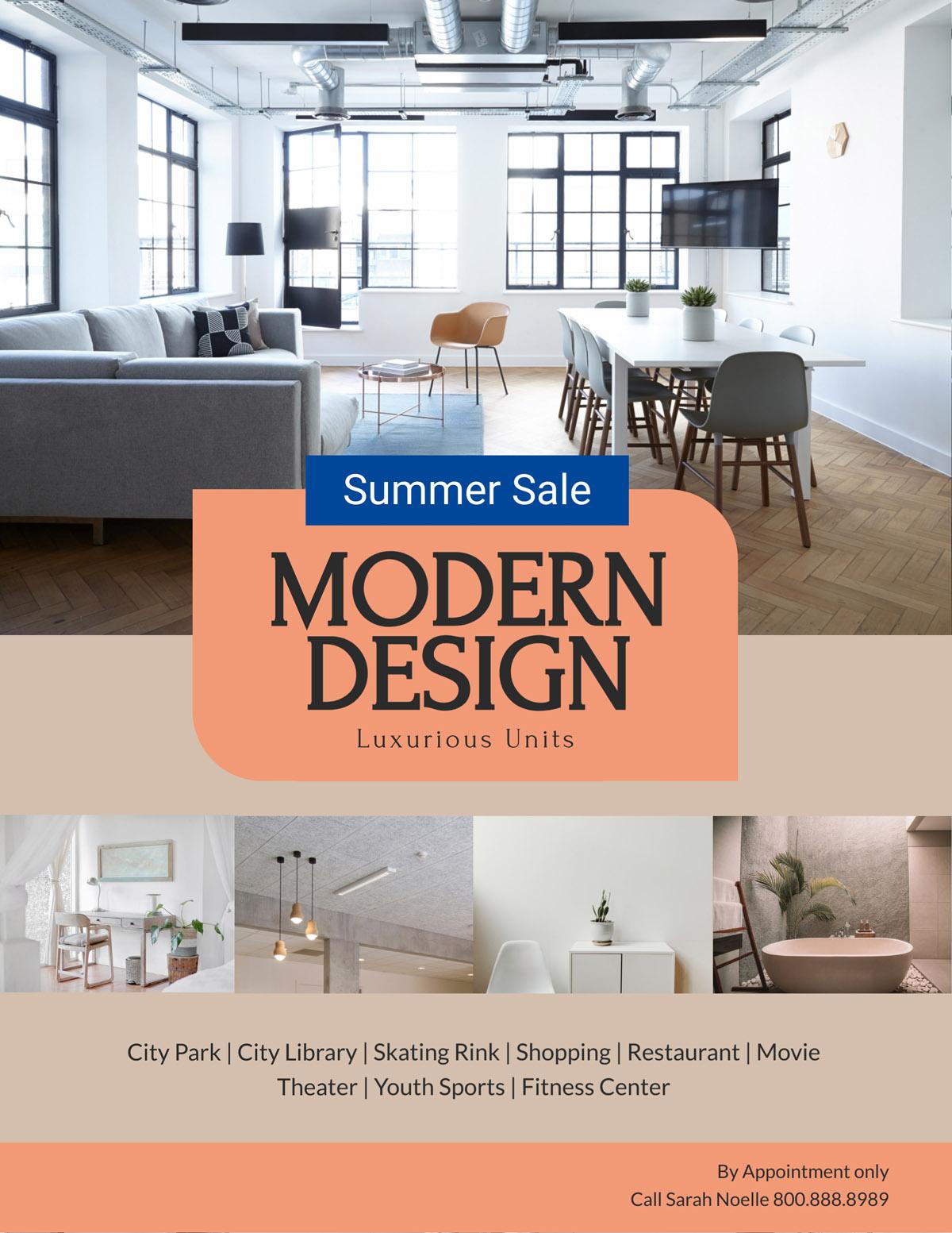 flyer templates - modern design real estate