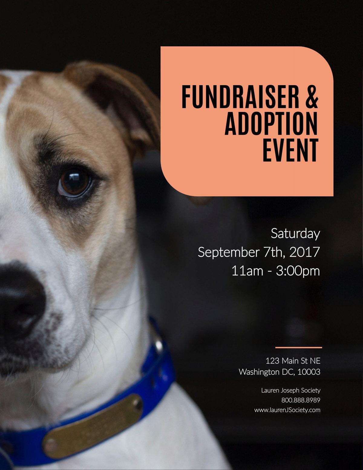 flyer templates - nonprofit adoption fundraiser