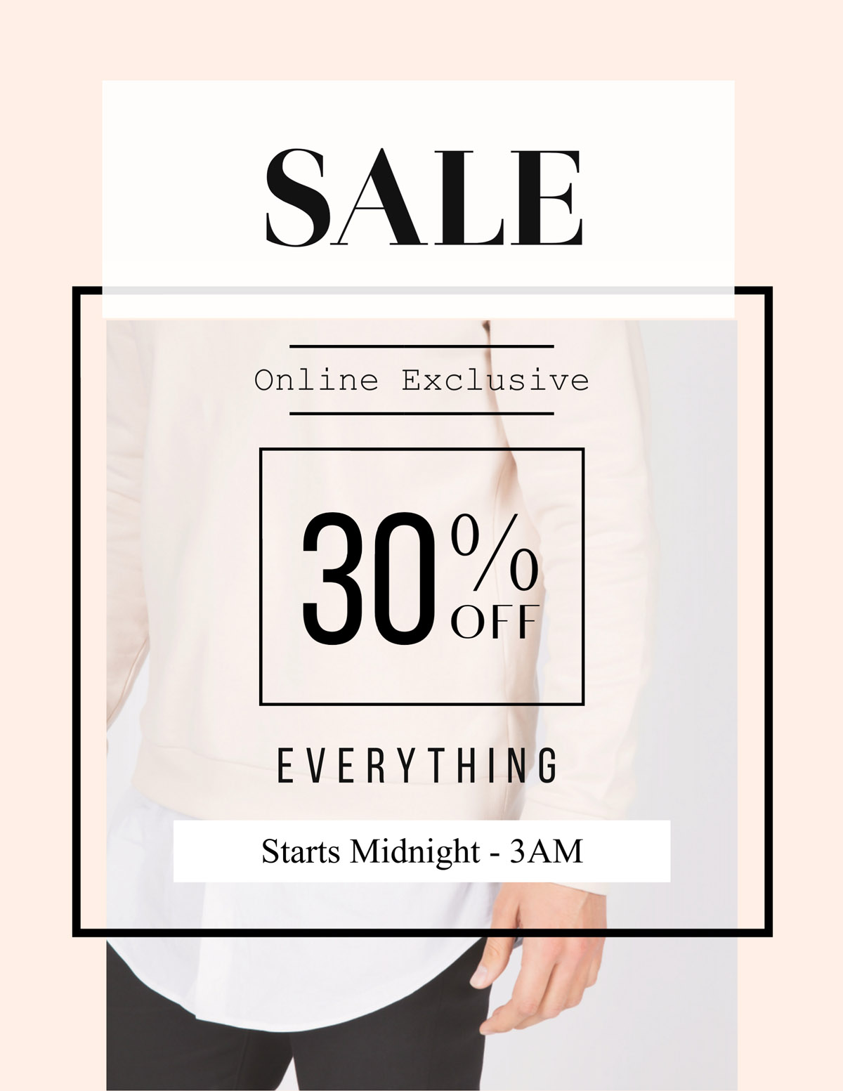 flyer templates - online sale