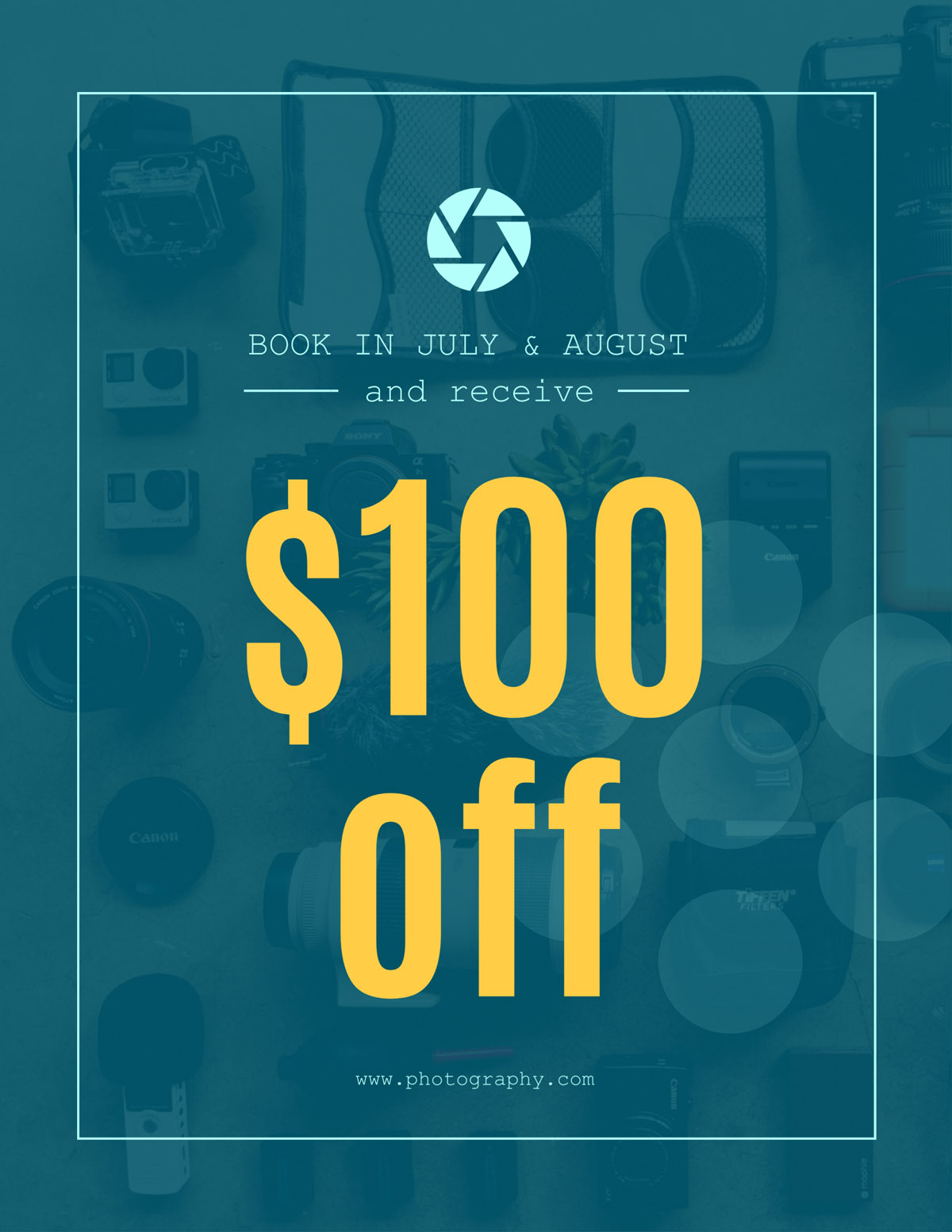 flyer templates - photography sale coupon
