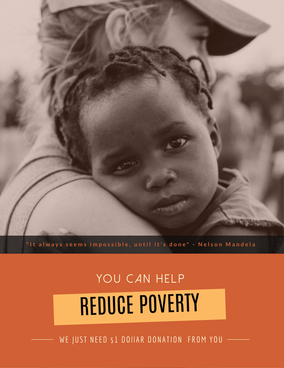 flyer templates - poverty nonprofit