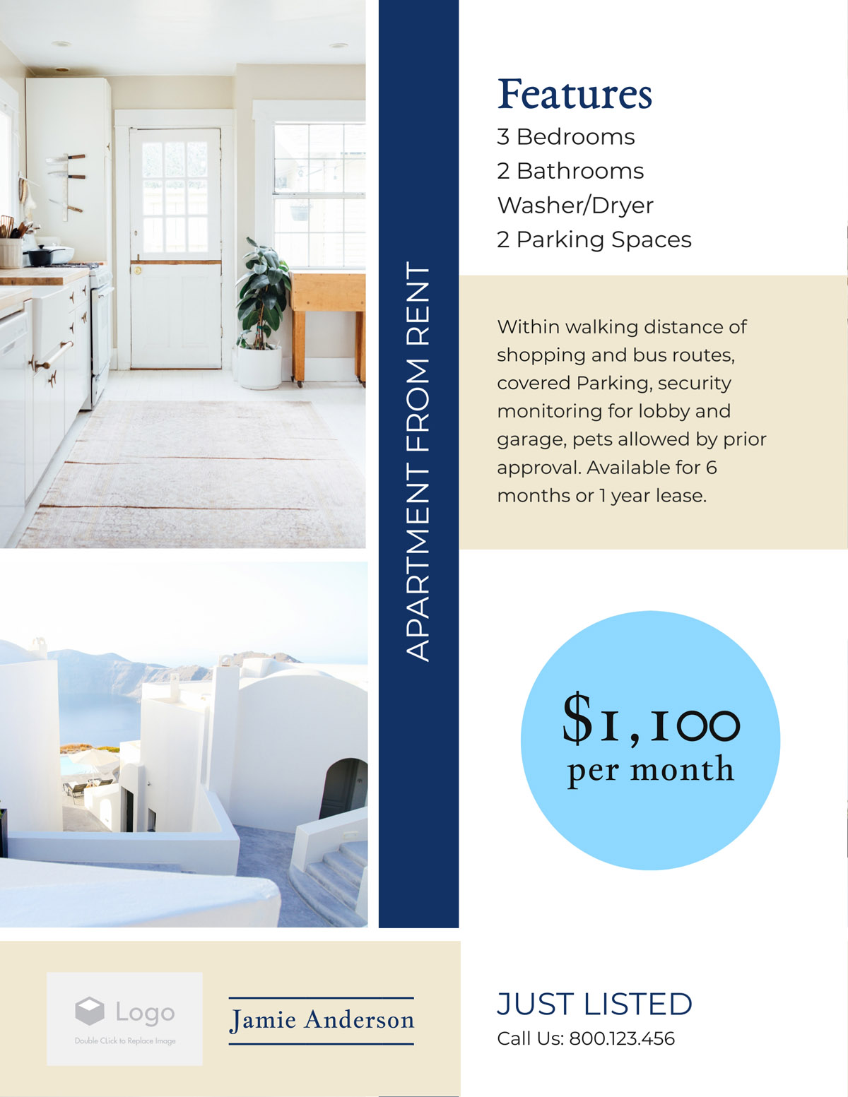 flyer templates - real estate apartment for rent