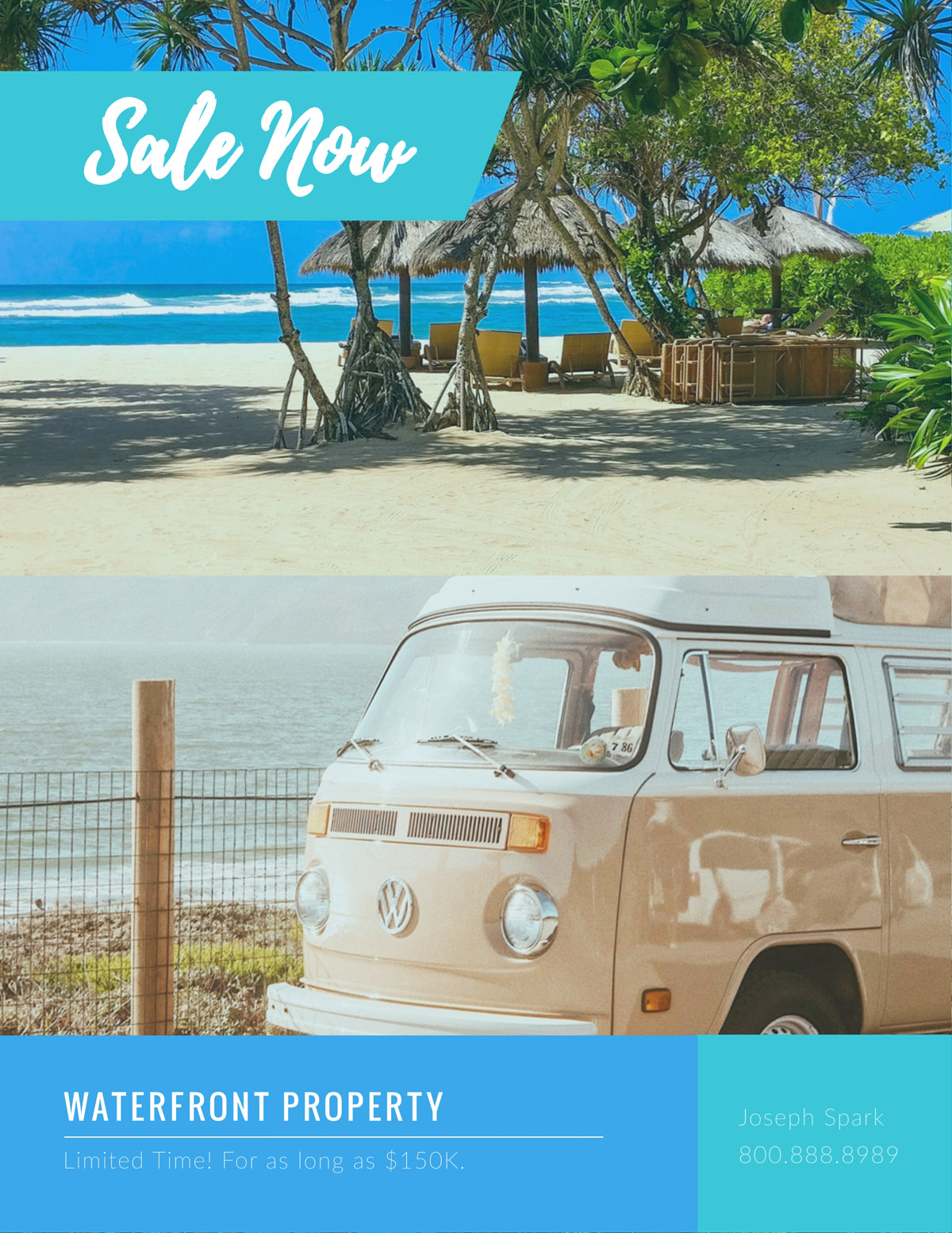 flyer templates - real estate beach house