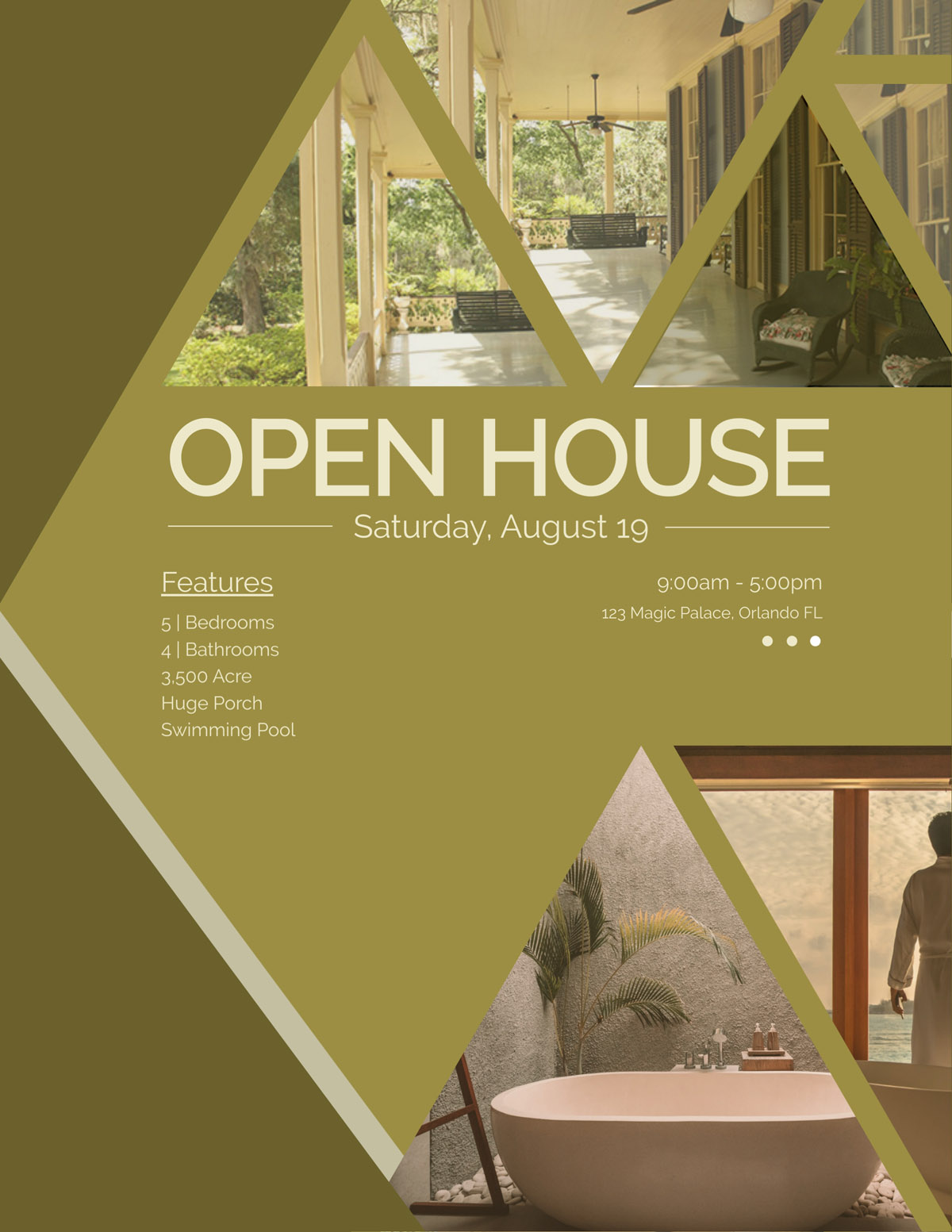 flyer templates - real estate open house
