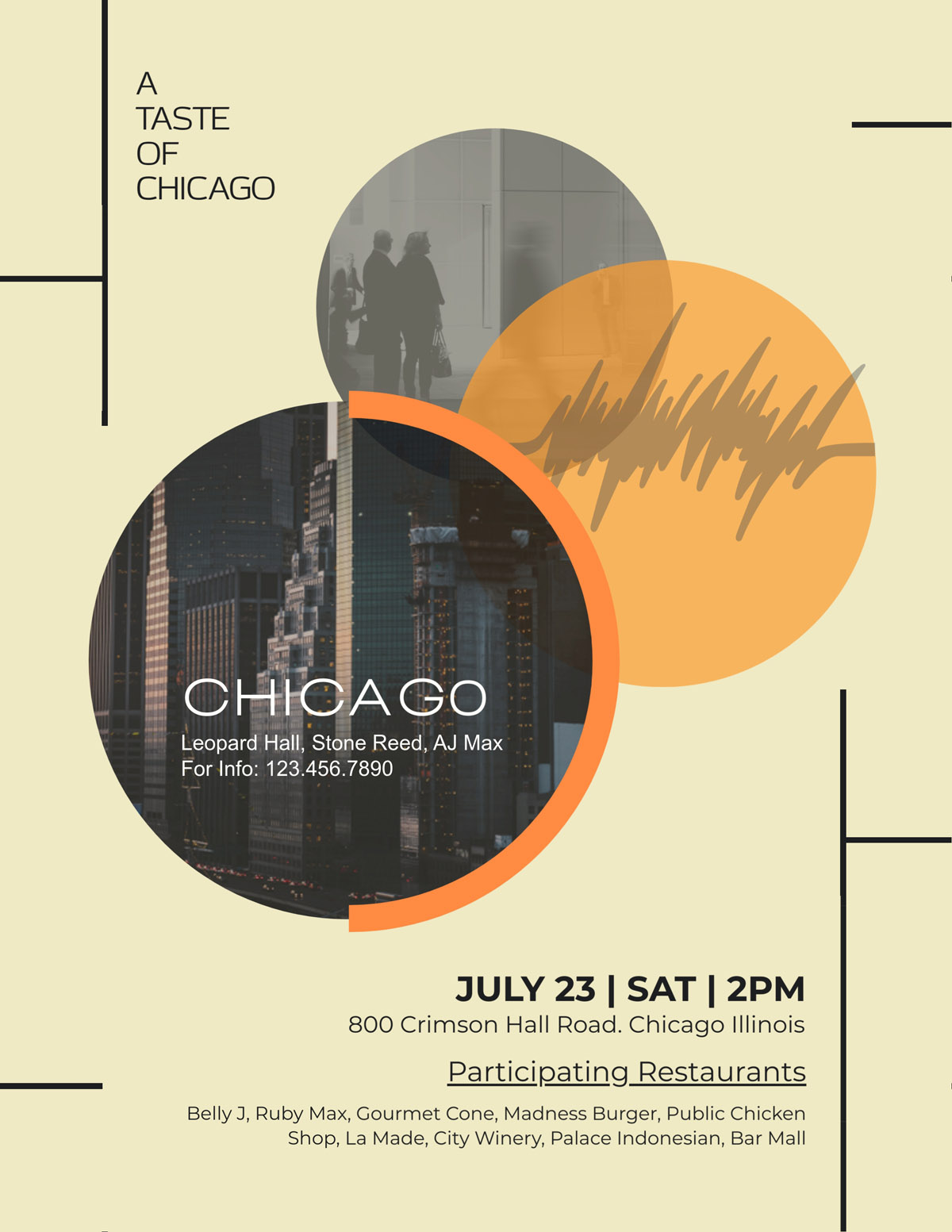 flyer templates - restaurant taste of chicago