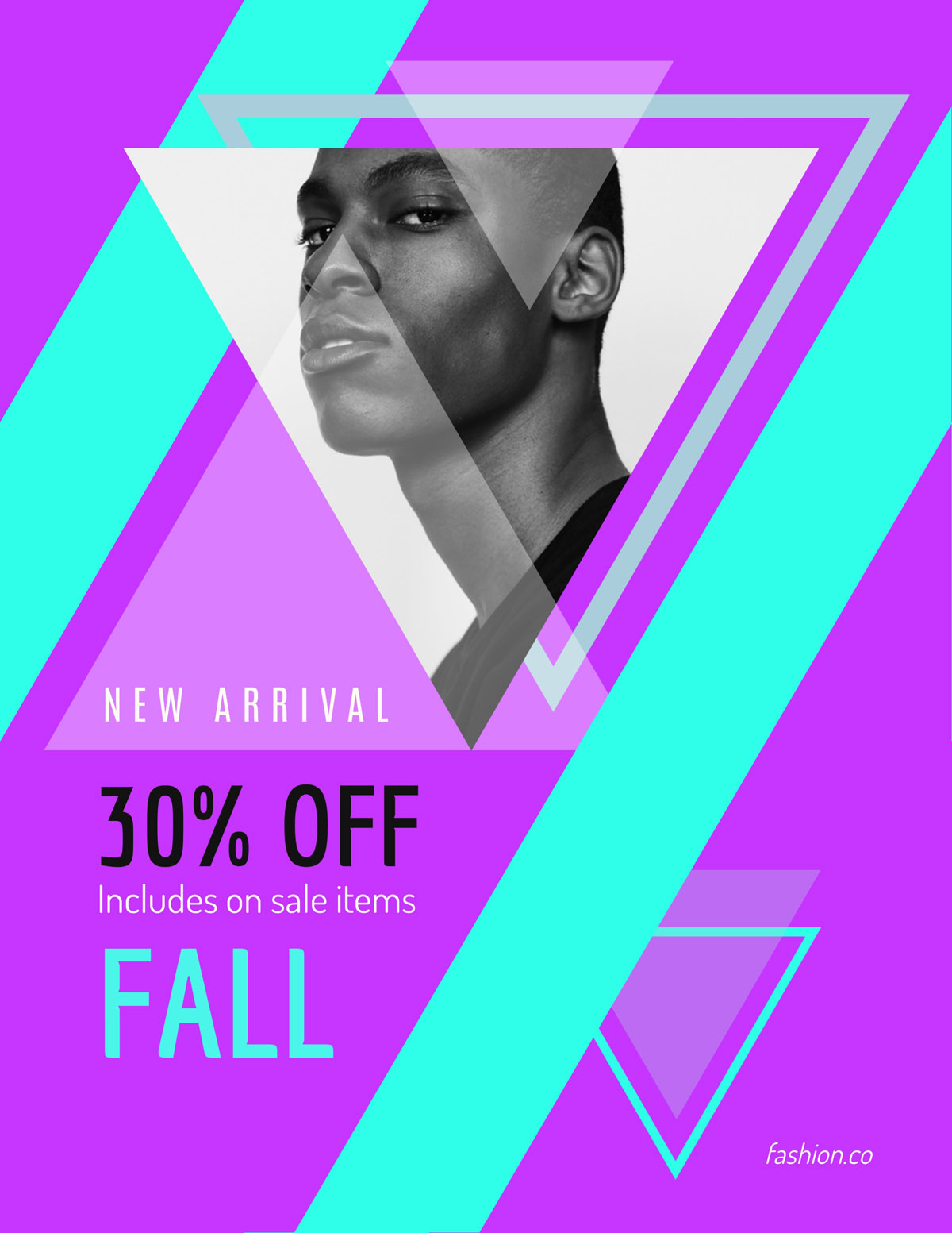flyer templates - sale on new arrival fashion