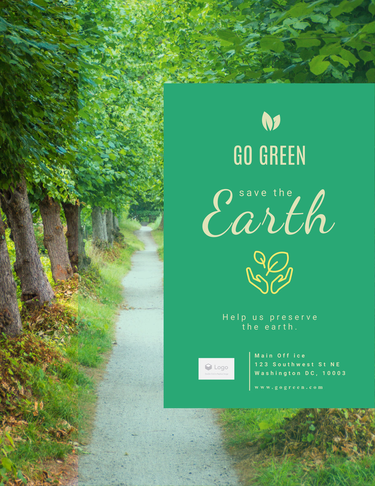 flyer templates - save the earth nonprofit