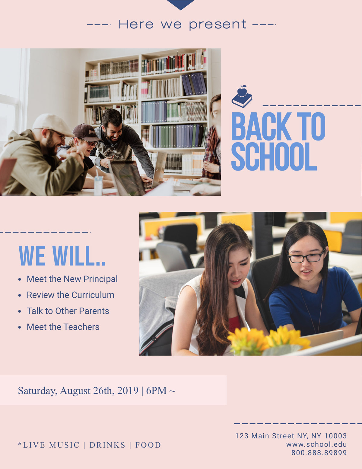flyer templates - school educational event