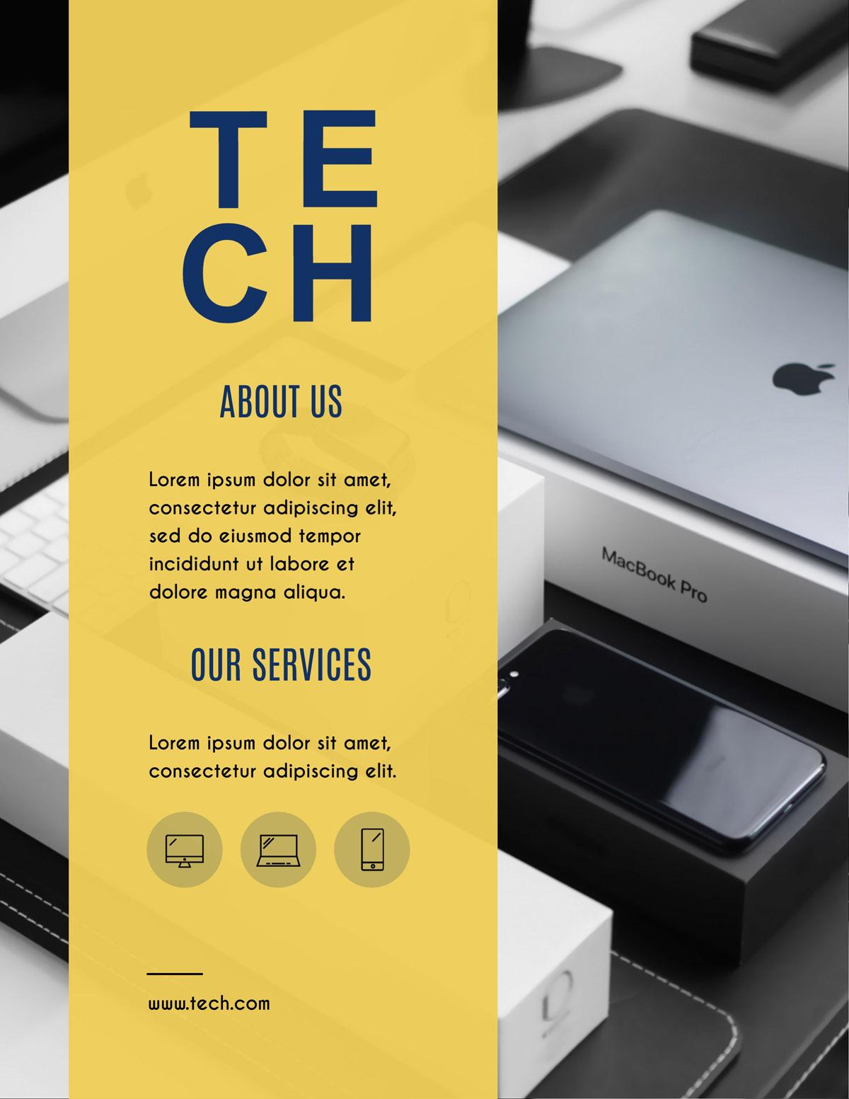 flyer templates - technology