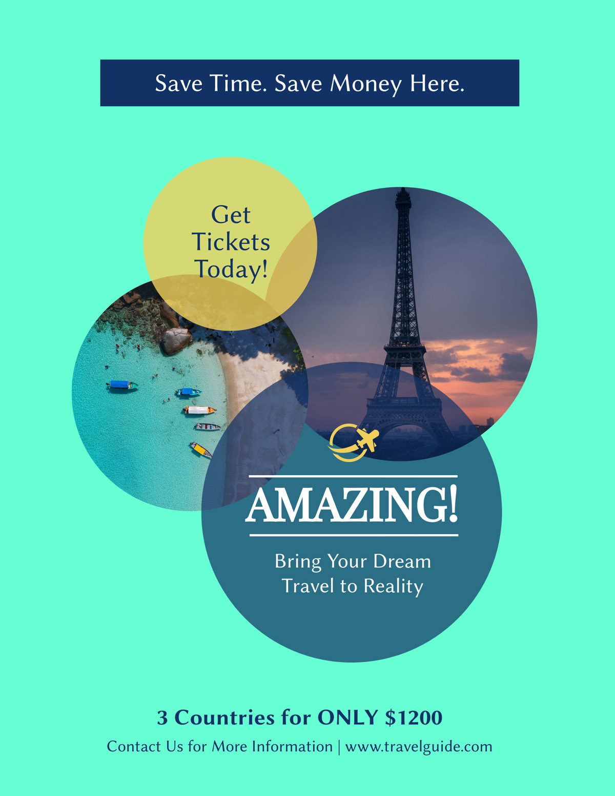 flyer templates - travel guide tours