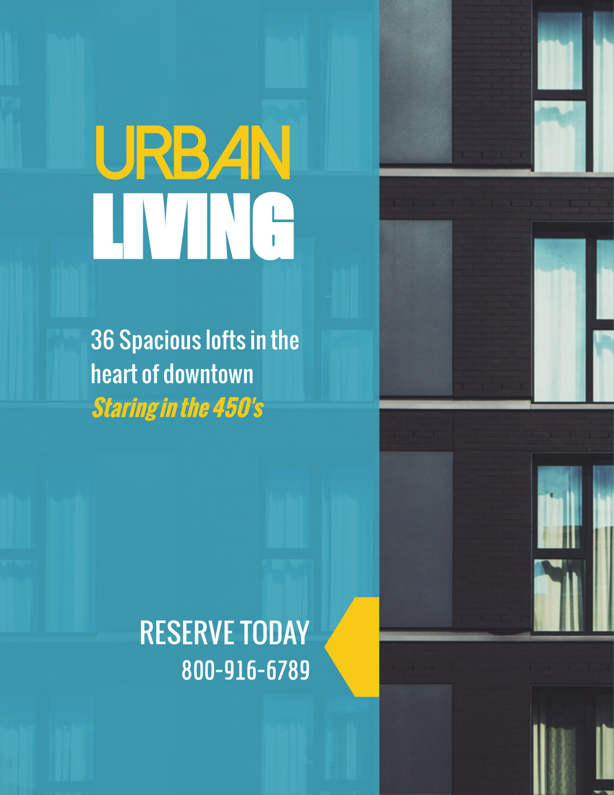 flyer templates - urban living real estate