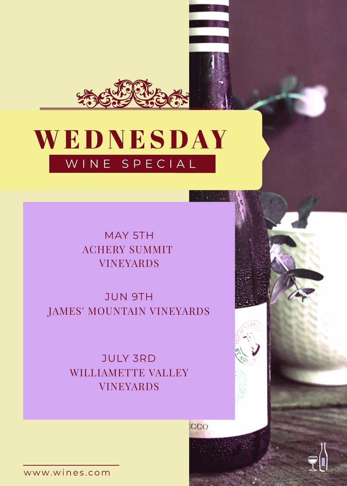flyer templates - wine specials restaurant