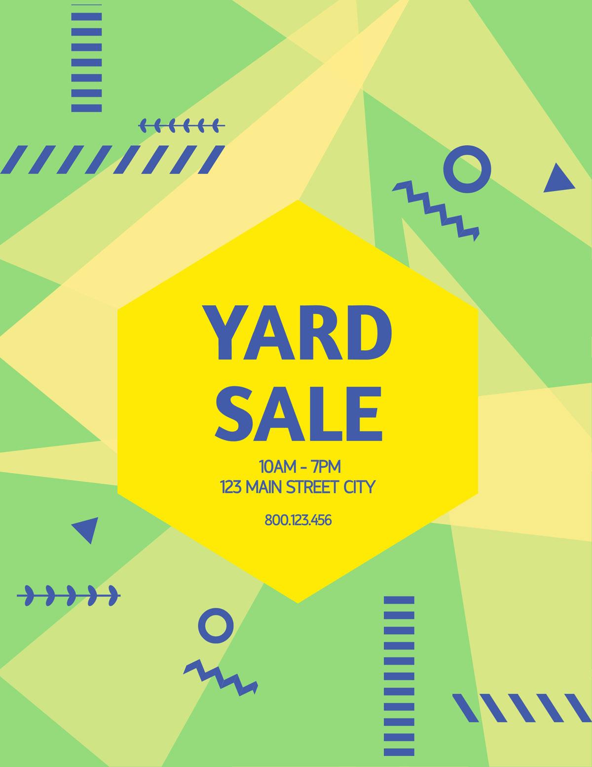 flyer templates - yard sale