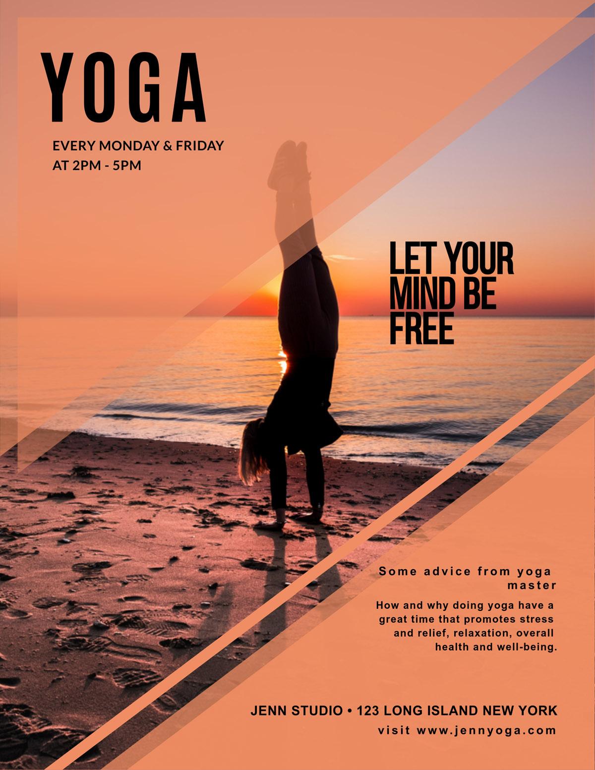 flyer templates - yoga fitness