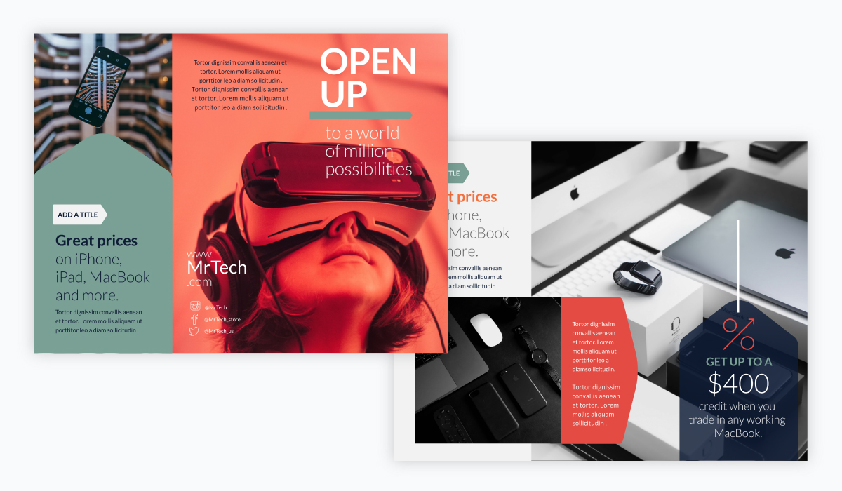 brochure design - tech brochure template