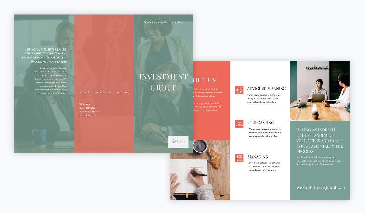 brochure design - investment group brochure template
