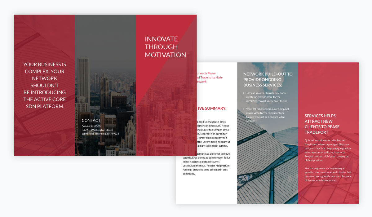 brochure design - innovation brochure template