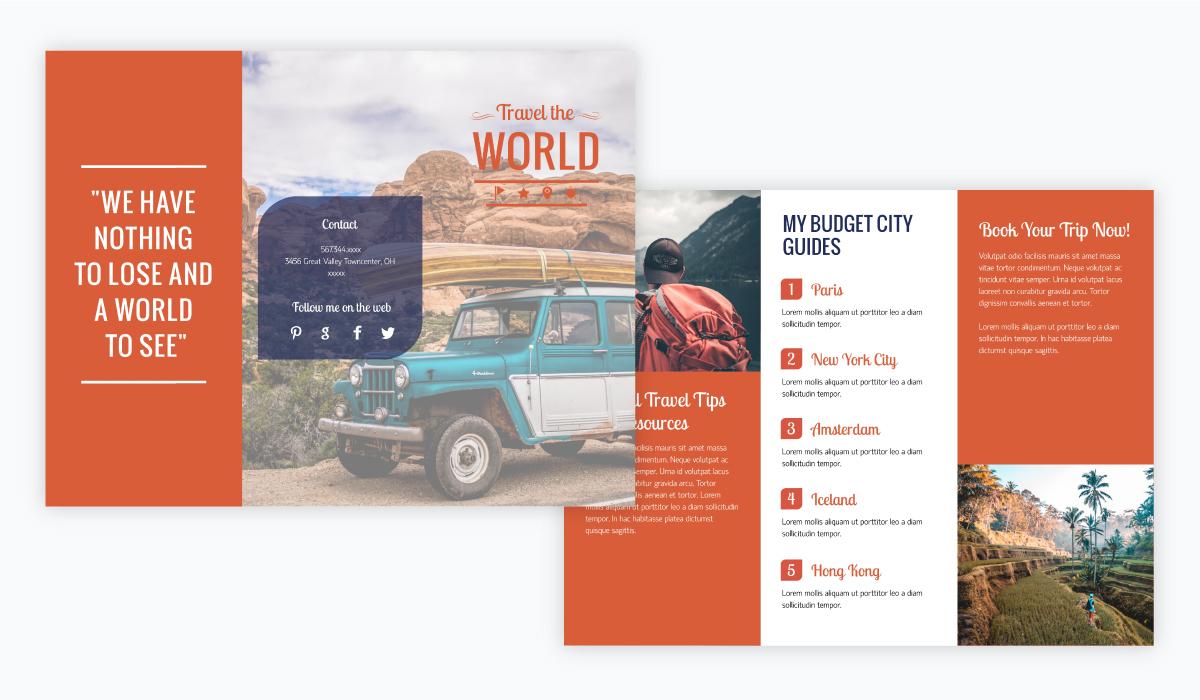 world travel brochure template