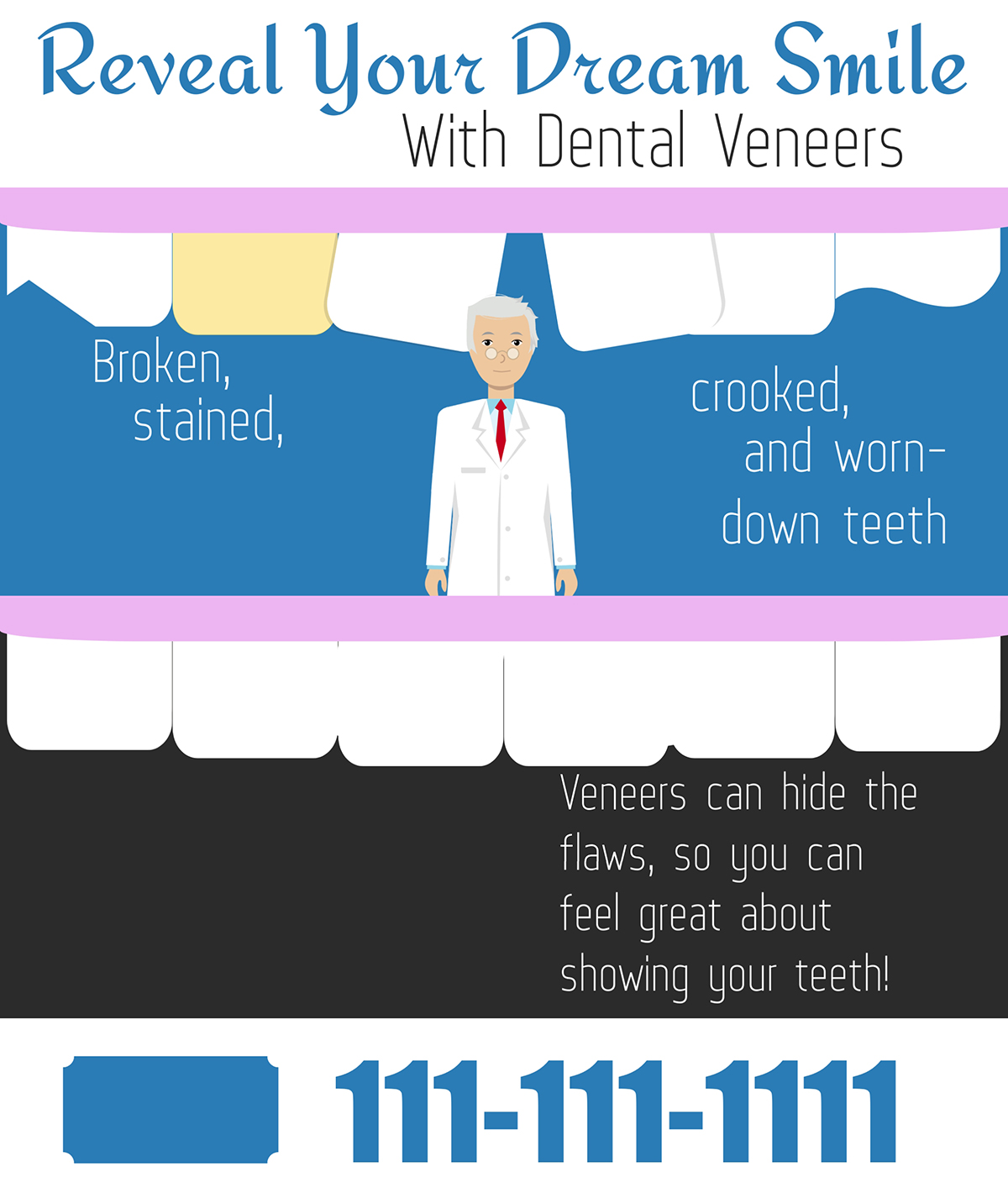 visme case study - dental veneers infographic