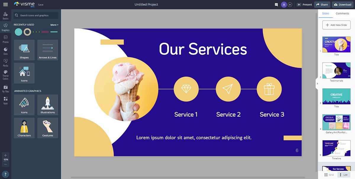 presentation voice over - customize your slides visme editor