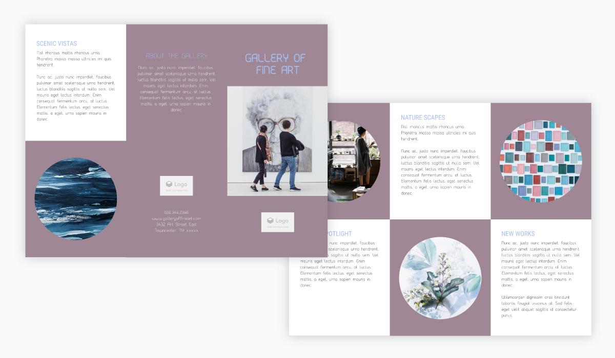 art gallery brochure template
