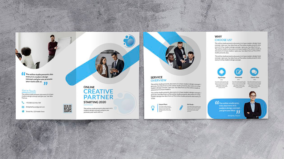 brochure design - two-fold brochure