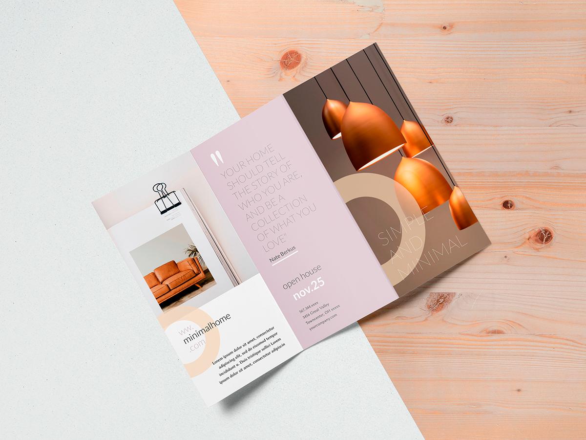 brochure design - z-fold brochure