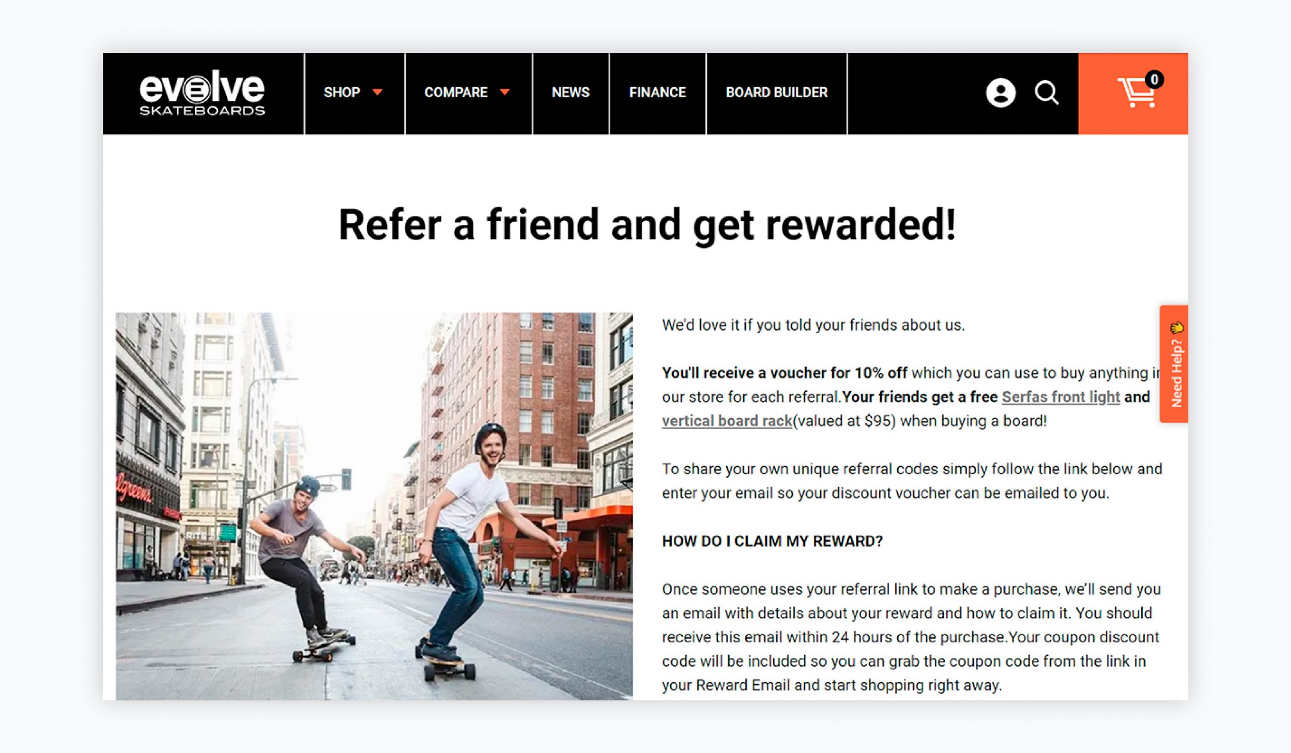 referral marketing - evolve example
