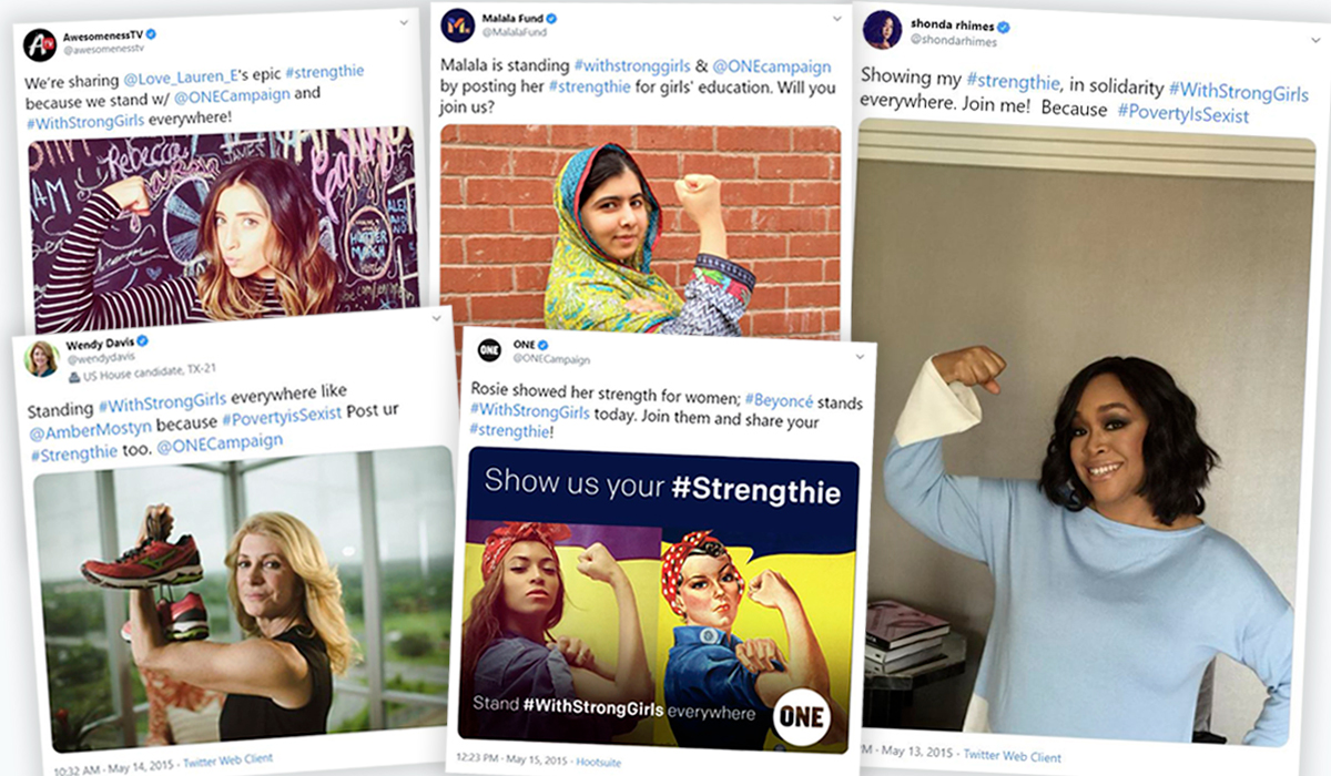 nonprofit marketing - malala yousafzai strengthies hashtag