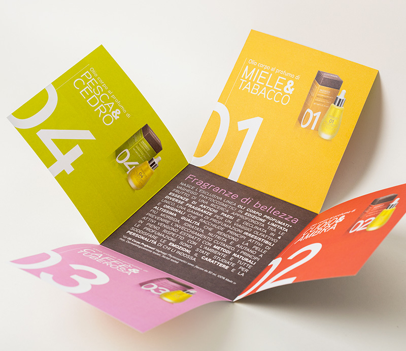 brochure design - unique fold and cut brochure