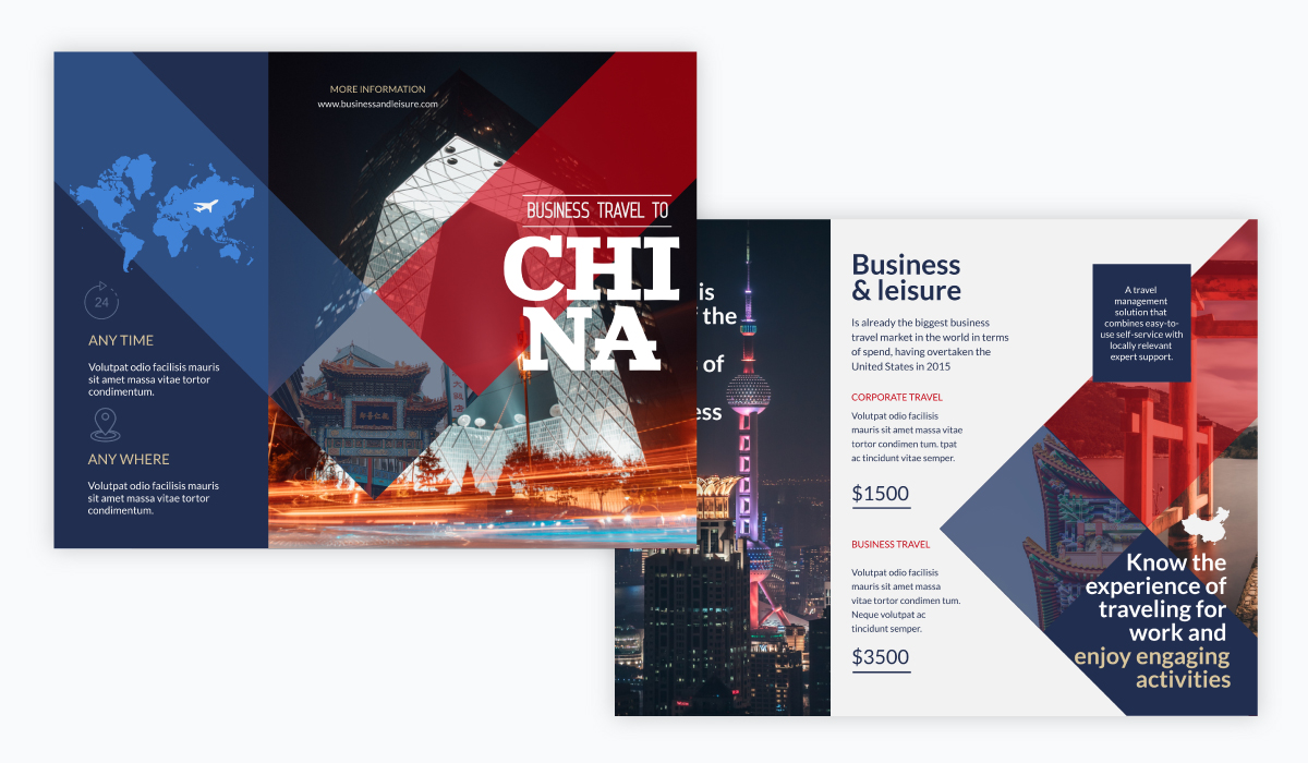 brochure design - business travel brochure template