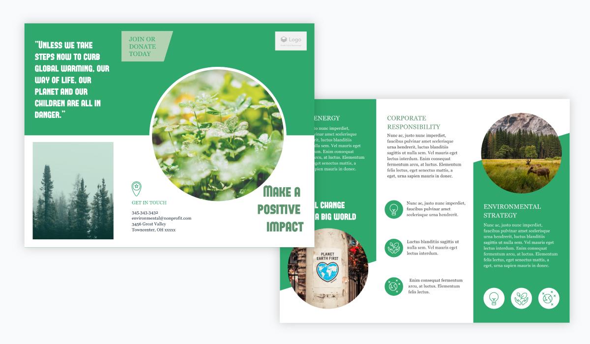 nonprofit brochure template