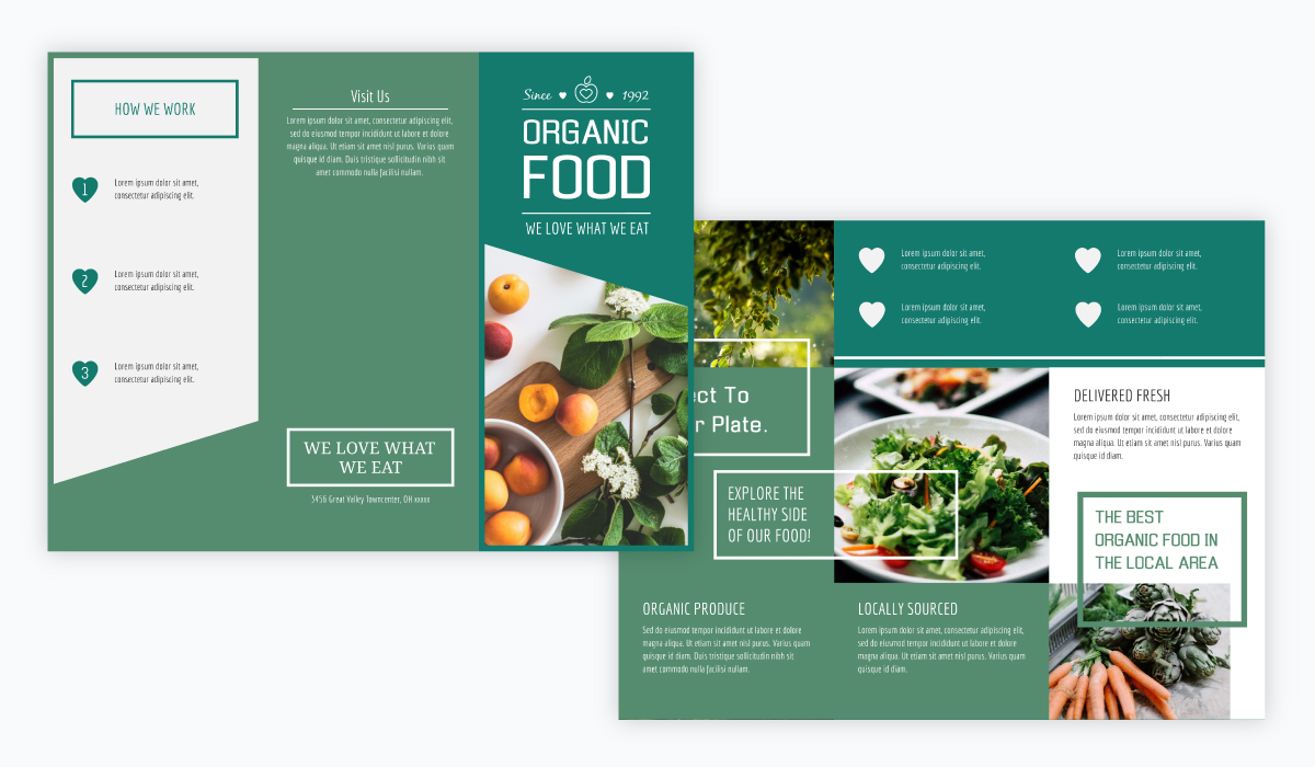 brochure design - organic food brochure template