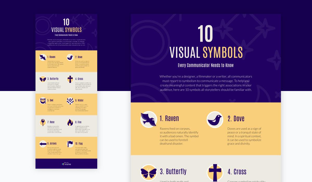 infographic marketing - visual symbols infographic template