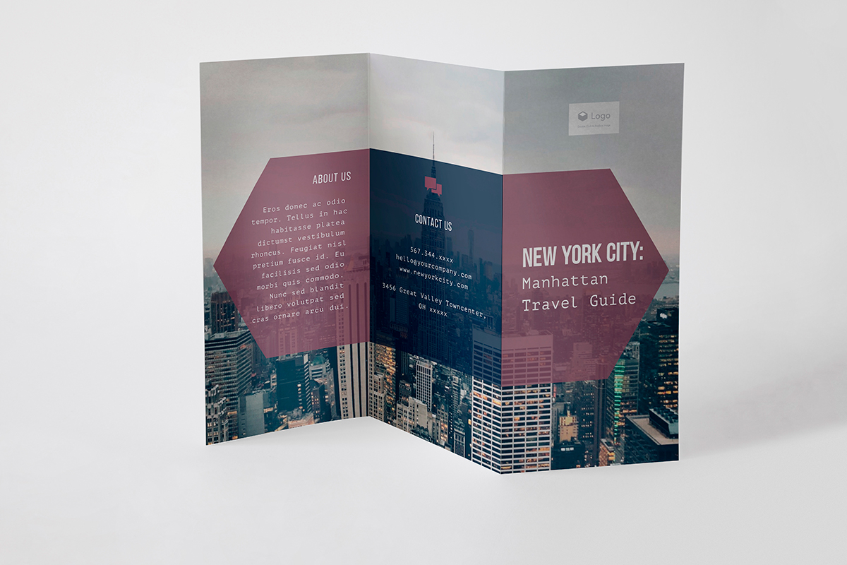 brochure design - brochure template from visme