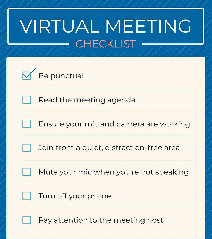 virtual meeting checklist