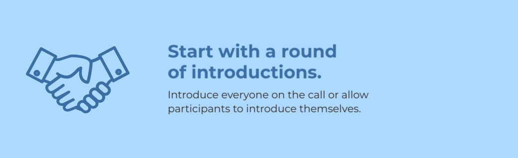 virtual meetings - start with introductions