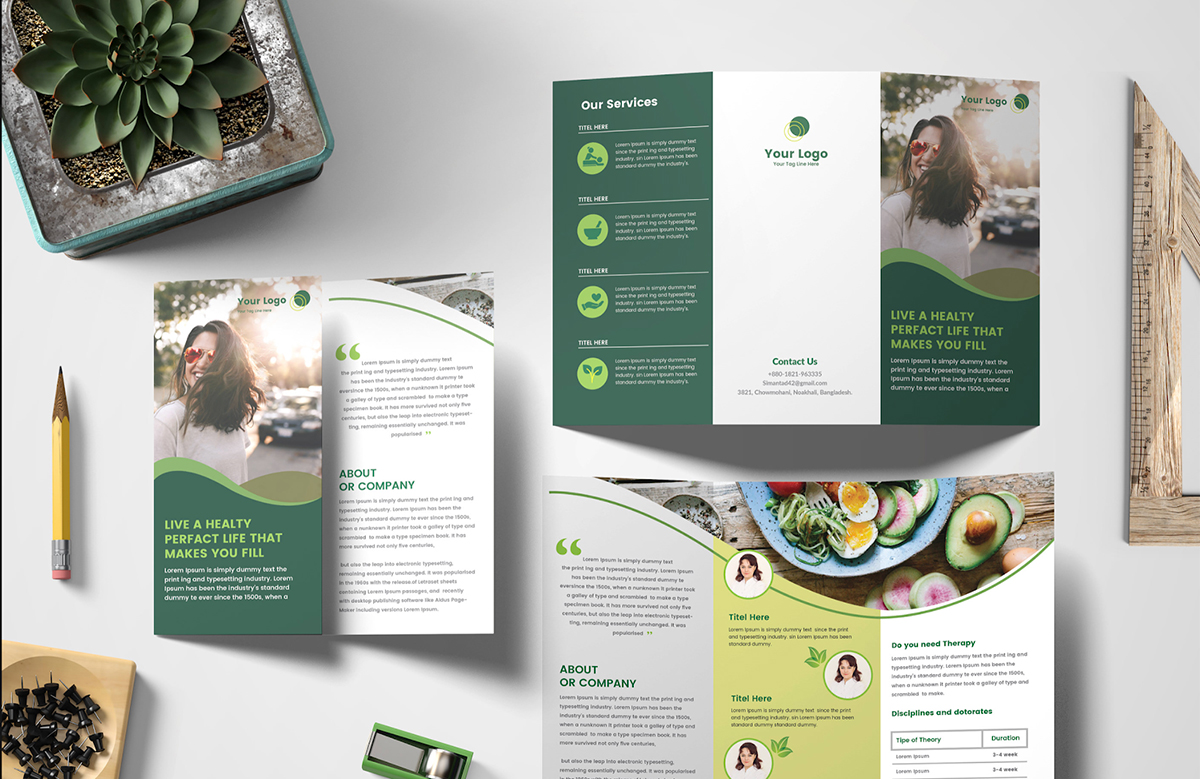brochure ideas - improve readability with visual cues