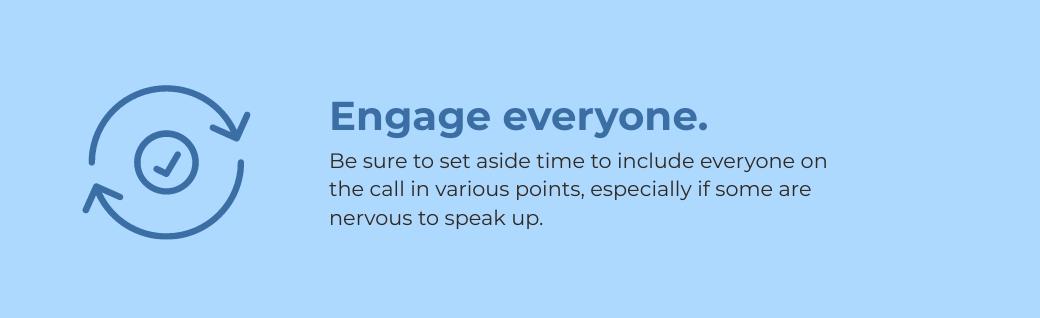 virtual meetings - engage everyone