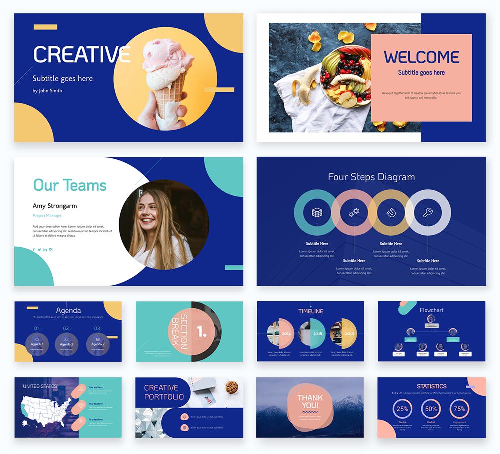 powerpoint presentation - creative theme