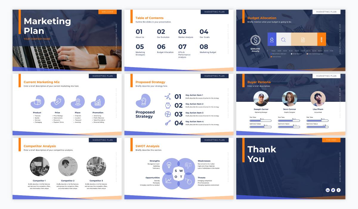 virtual meetings - marketing presentation template